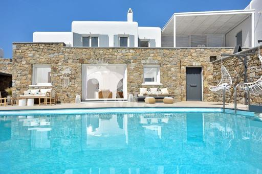 WHITE AND AQUA FISH VILLA